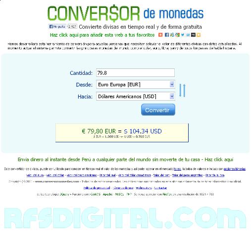 ConversorDeMonedas - Herramienta web para coversión de divisas
